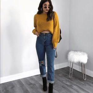 Mustard Chunky Knit Sweater